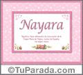 Nayara - Significado y origen