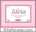 Idoia - Significado y origen