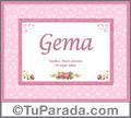 Gema - Significado y origen