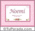 Noemi - Significado y origen