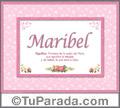 Maribel - Significado y origen