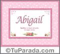 Abigail - Significado y origen