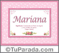 Mariana - Significado y origen