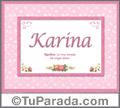 Karina - Significado y origen