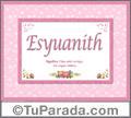 Esyuanith - Significado y origen