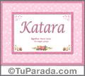 Katara - Significado y origen