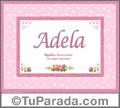 Adela - Significado y orgen