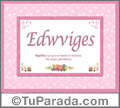 Edwviges - Significado y origen