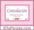 Consolación - Significado y origen