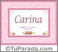 Carina -  Significado y origen