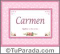 Carmen - Significado y origen