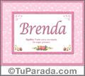 Brenda - Significado y origen