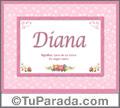 Diana  - Significado y origen