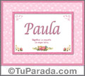 Paula - Significado y origen