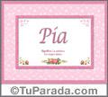 Pia - Significado y origen