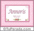 Annoris - Significado y origen