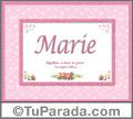Marie - Significado y origen