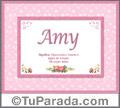 Amy - Significado y origen