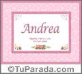 Andrea - Significado y origen