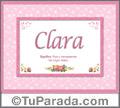Clara - Significado y origen