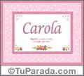 Carola - Significado y origen