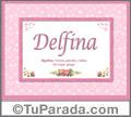 Delfina - Significado y origen
