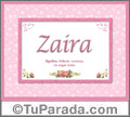 Zaira - Significado y origen