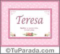 Teresa - Significado y origen