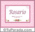 Rosario - Significado y origen