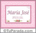 Maria José - Significado y origen