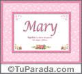 Mary - Significado y origen