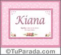 Kiana - Significado y origen