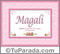 Magalí - Significado y origen