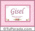 Gisel - Significado y origen