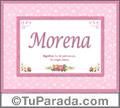 Morena - Significado y origen