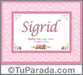 Sigrid - Significado y origen