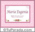 María Eugenia - Significado y origen