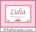 Lidia - Significado y origen