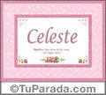 Celeste - Significado y origen