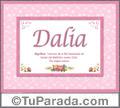Dalia - Significado y origen