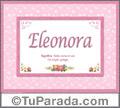 Eleonora  Significado y origen