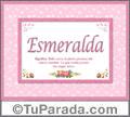 Esmeralda - Significado y origen