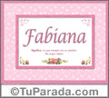 Fabiana - Significado y origen