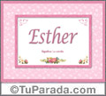 Esther - Significado y origen