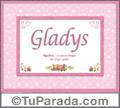 Gladys, nombre, significado y origen de nombres