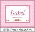 Significado y origen de Isabel para imprimir