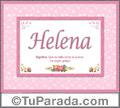 Helena, nombre, significado y origen de nombres