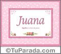 Juana, nombre, significado y origen de nombres