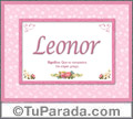 Significado y origen de Leonor para imprimir