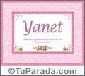Significado y origen de Yanet para imprimir
